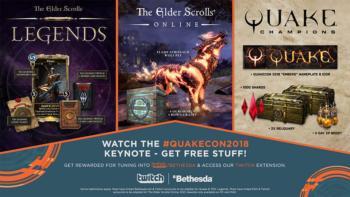 Подарки в проектах от Bethesda в честь QuakeCon 2018