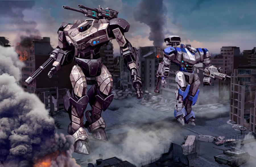 TechWars Global Conflict: Отличный изометрический шутер про огромных роботов