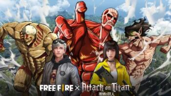 В Мобильной королевской битве Free Fire началось событие из Атаки Титанов